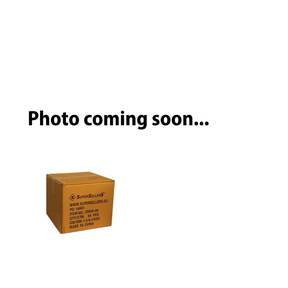Plastpose, sort m/guldblademønster, 34x4xH48