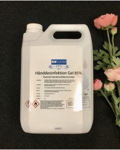 hånddesinfeksjon gel, 85%. 5000 ml .