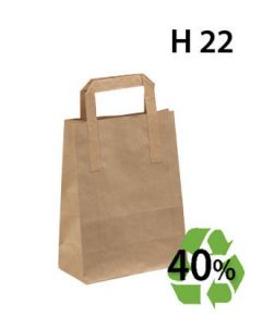 Papirpose, gjenbrukspapir - Lille - 100 stk.