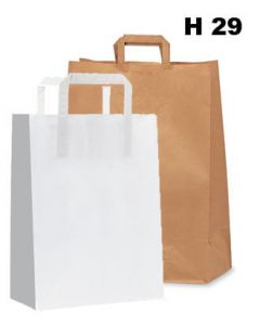Papirpose - 200 stk. - H 29 cm. - STORKJØB