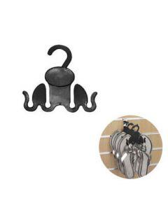 Sko/støveloppheng - klipklap-anker, sort