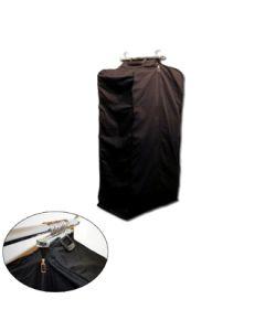 Kolleksjonspose m/koffertlukkning L: 80 cm. - Sort