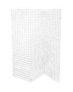 Dekorasjonsgitter 50 x 150 cm, Hvit  - Sett med 3 stk gittre