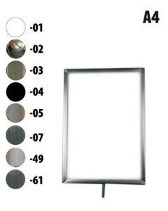 A4 Metall skiltramme