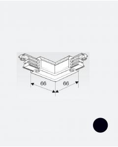 Vinkelstykke, 1F, 230V, sort
