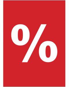 Plakat - Prosent % - 50 x 70 cm