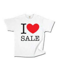 "T-shirt  "" I LOVE SALE"""