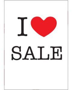 Plakat - I LOVE SALE - 50 x 70 cm