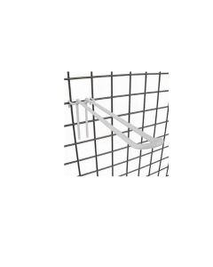 varekrok, dobbelt - 20 cm. t/ gitter. hvit