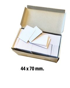 Deluxe pappskilt til pins, 1000 stk., hvit