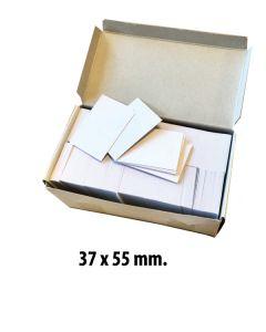 Papskilte t/ pins 37 x 55 mm. 1.000 stk.