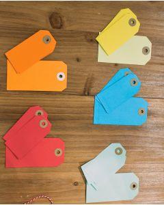 Fargede manillamerker (B 38 x H 80 mm.)