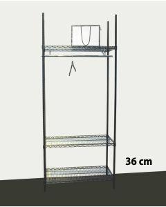 Garderobe Reol - TUBO (B 91 x D 36 x H 220 cm.) - Sort