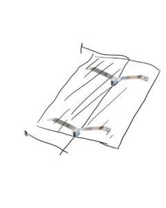 Hyllebærer t/rett bøylestang, krom