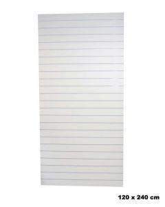 Rillepanel - hvit - Standard (120 x 240 cm.)