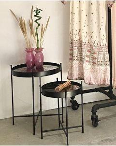 Bordsett ( 2 stk. ) - speilborde med sort stell