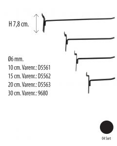 Varekrok t/panel - svart