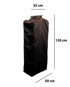 Kolleksjonspose m/koffertlukkning L: 120 cm - Sort