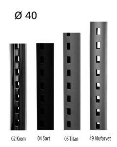 Pipe-line veggskinne Ø40 mm, L 226 cm