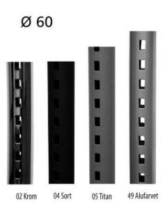 Pipe-line veggskinne Ø60 mm, L 138 cm