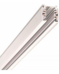 Strømskinne - 2 Meter - 3F - hvit - Global