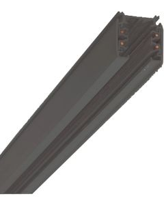 Strømskinne - 1 Meter -3F - Sort -  Global