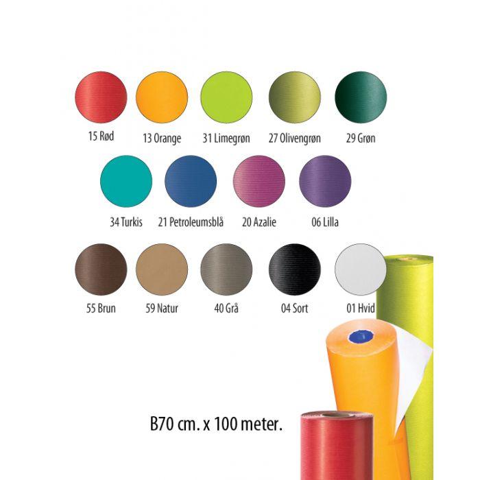 Gavepapir - Ensfarget B70 - kraftpapir