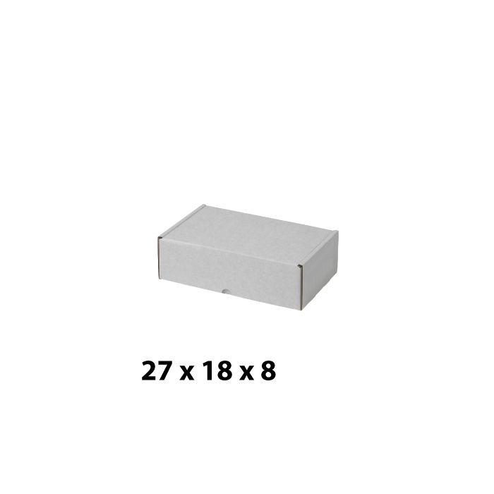 Hvit pappesker (H 8 cm.)