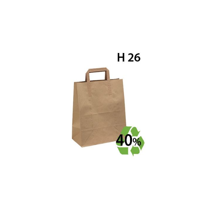 Papirpose, gjenbrukspapir - mellom - 100 stk.