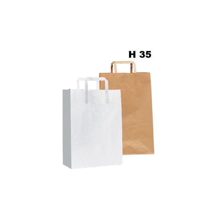 Papirpose - 200 stk. - H 35 cm. - STORKJØB