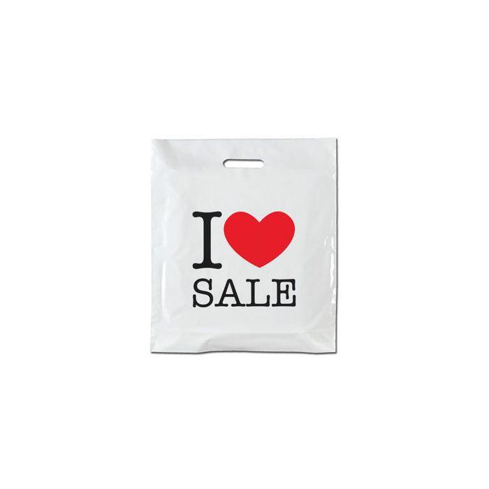 Plastpose - I LOVE SALE - 100 stk.