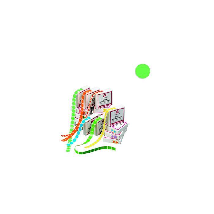 Fargede, runde merkelapper u/trykk (Ø 19 mm).