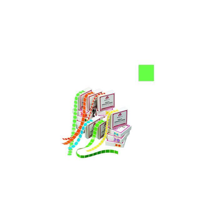 Fargede, firkantede merkelapper u/trykk ( 19 x 19 mm).
