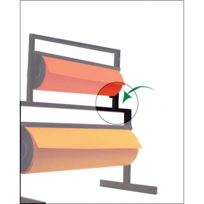 Koblingsbeslag til papirafrullere. sett med højre og venstre