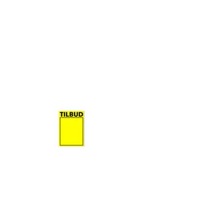 Tilbudsskilt, ny - gul A6, 50 stk