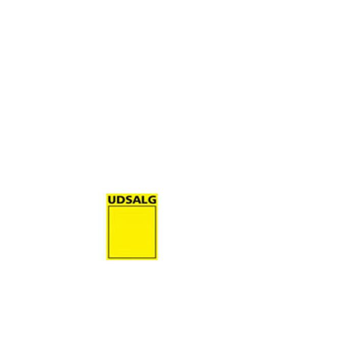 Utsalgsskilt, gul A6, 50 stk