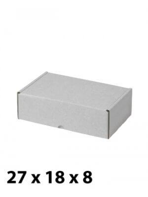 Hvid papkasse (H 8 cm.)