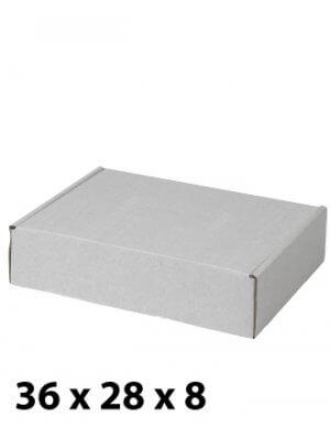 Hvid papkasse (B 36 x H 8 cm.)