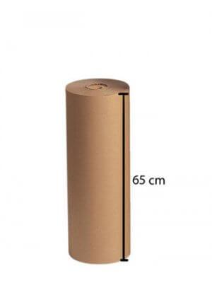 Brun kraftpapir 350 mtr. x B 65 cm.