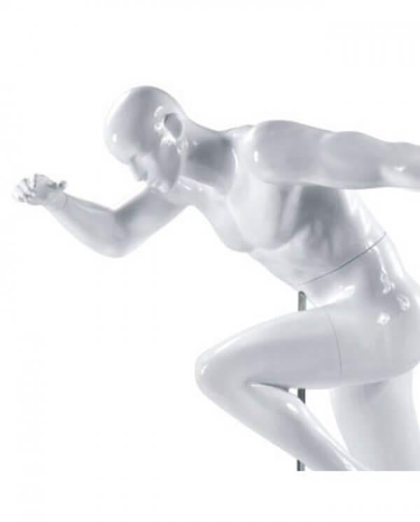 Nærbillede af sports mannequin - sprint