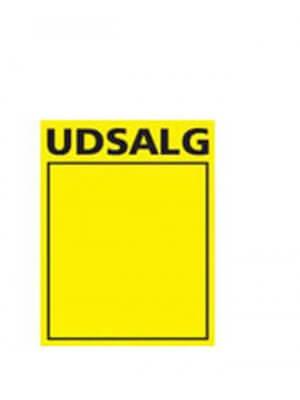 Utsalgsskilt, gul A4, 50 stk