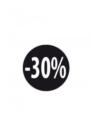 Sorte etiketter m/ procent - 500 stk. -30%