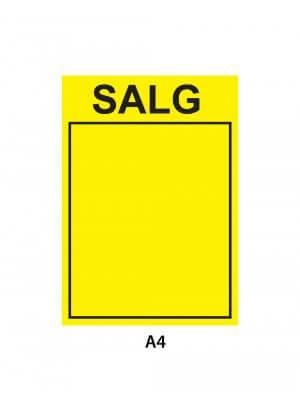 A4 skiltepap - SALG - 50 stk.